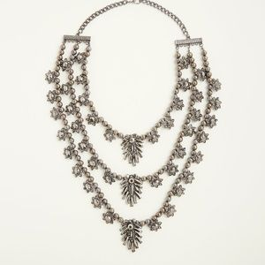 Torrid Gemstone Layered Statement Necklace